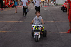 A young fan of Randy De Puniet, LCR Honda MotoGP