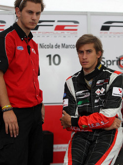 Nicola De Marco talks with an engineer