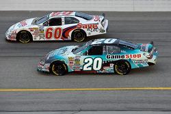 Joey Logano and Carl Edwards