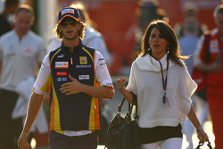 Romain Grosjean, Renault F1 Team with his girlfriend Marion Jolles