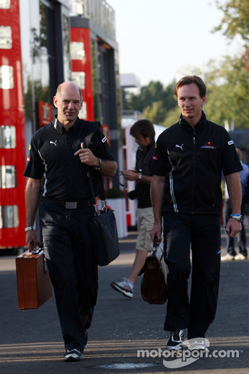 Adrian Newey, Red Bull Racing, Technical Operations Director, Christian Horner, Red Bull Racing, Sporting Director