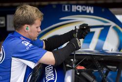 Penske Racing Dodge crew member at work