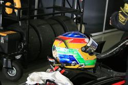 Roberto Merhi's helmet