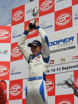 Max Chilton celebrates his first win