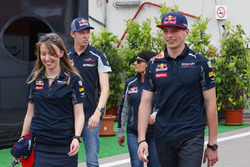 Max Verstappen, Red Bull Racing and Daniil Kvyat, Scuderia Toro Rosso