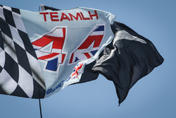 Flags for Lewis Hamilton, Mercedes AMG F1