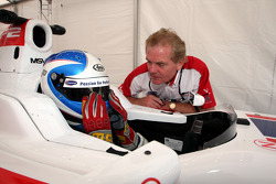 Jonathan Palmer Motorsport Vision Chief Executive with Jolyon Palmer