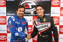 GT1 pole winner Enrique Bernoldi and GT2 pole winner Matias Russo
