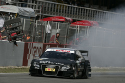 Race winner Timo Scheider, Audi Sport Team Abt Audi A4 DTM celebrates