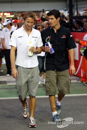 Jenson Button, BrawnGP, Mark Webber, Red Bull Racing