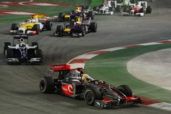 Start of the race, Lewis Hamilton, McLaren Mercedes, Nico Rosberg, WilliamsF1 Team