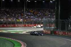 Nico Rosberg, WilliamsF1 Team, crosses the white line when he exits the pits