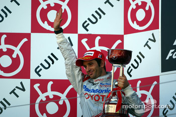 Podium: second place Jarno Trulli, Toyota F1 Team