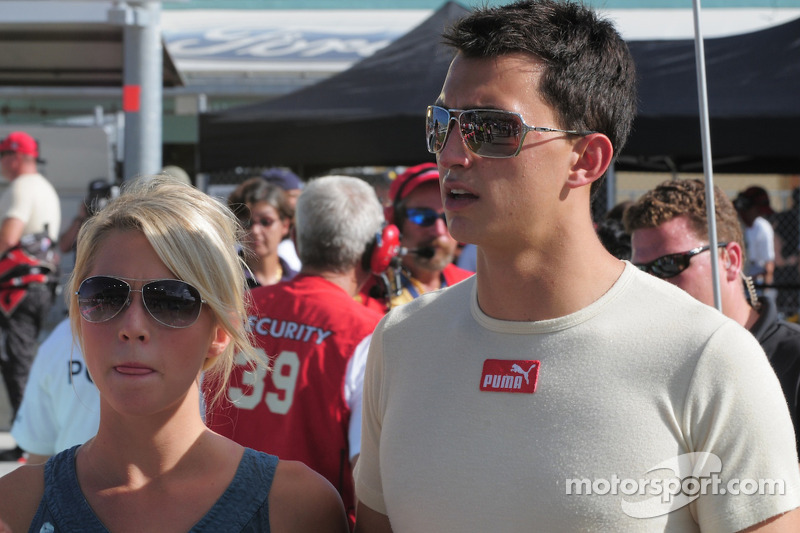 Graham Rahal with his girlfriend