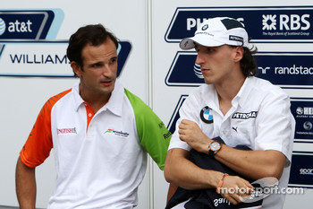 Vitantonio Liuzzi, Force India F1 Team, Robert Kubica, BMW Sauber F1 Team