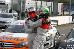 The two championship contenders: Gary Paffett, Team HWA AMG Mercedes  and Timo Scheider, Audi Sport Team Abt