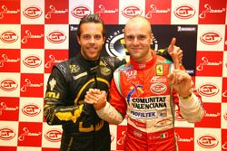 GT1 pole winner Anthony Kumpen and GT2 pole winner Gianmaria Bruni
