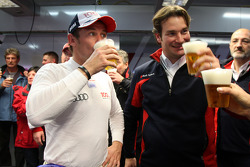 Tom Kristensen, Audi Sport Team Abt Audi A4 DTM drinking a after race beer