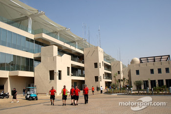 The New Abu Dhabi Yas Marina Circuit, paddock