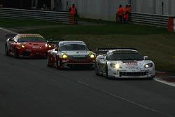 #19 Luc Alphand Aventures Corvette C6R: Xavier Maassen, Thomas Biagi, #55 CRS Racing Ferrari F430: Antonio Garcia, Tim Mullen