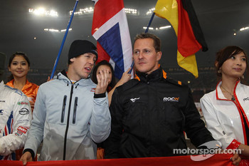 Drivers presentation: Sebastian Vettel and Michael Schumacher