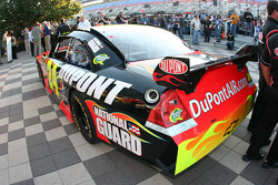 Jeff Gordon's pole winning car sits in Victory lane