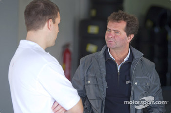 Leon Price, GP3 Co - Ordinator with Trevor Carlin