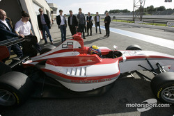 GP3 Series team owners watch Mark Webber test the new GP3 Series car