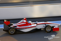 Antonio Lobato test drives the new GP3 Series car