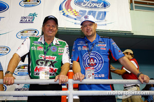 Grand Marshalls for the Ford 300: NHRA car owner John Force and 2009 NHRA Funny Car Champion Robert Hight