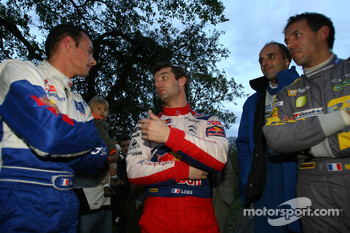Stphane Sarrazin and Jean Renucci, Peugeot 207 super 2000 and Sbastien Loeb and Sverine Loeb, Citroen C4 WRC