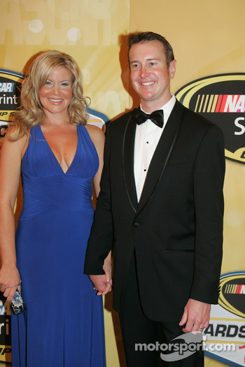 Kurt Busch with his wife Eva