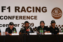 Lotus F1 driver Announcement press conference