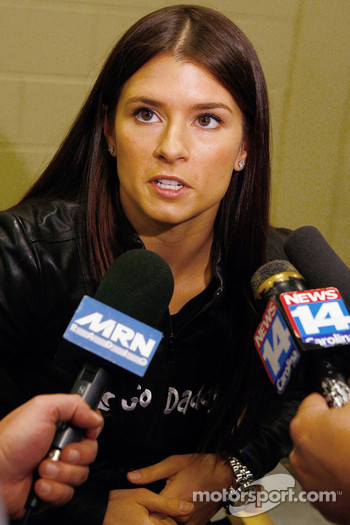 NASCAR Nationwide Series driver Danica Patrick talks about running races in February at Auto Club Speedway and Las Vegas Motor Speedway in 2010 in the No. 7 GoDaddy.com Chevrolet