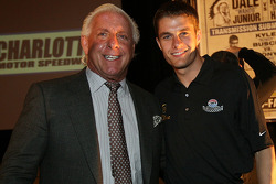Pro wrestler Ric Flair is welcomed back to NASCAR by David Ragan
