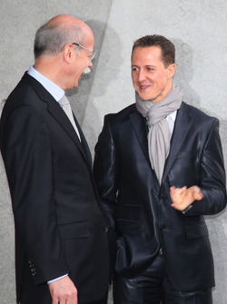 Michael Schumacher with Dr. Dieter Zetsche