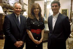 Peter Windsor, Cristina Fernandez de Kirchner and Jose Maria Lopez