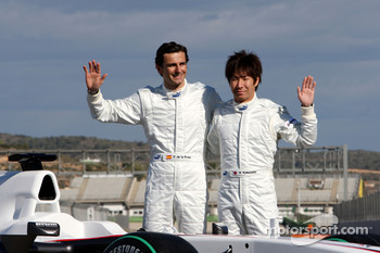 Pedro de la Rosa, BMW Sauber F1 Team and Kamui Kobayashi, BMW Sauber F1 Team