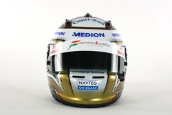 The helmet of Adrian Sutil Force India F1