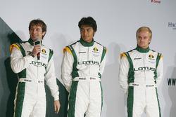 Jarno Trulli, Fairuz Fauzy and Heikki Kovalainen