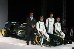 Tony Fernandes, Malaysia Racing Team Principal, Jarno Trulli, Fairuz Fauzy and Heikki Kovalainen
