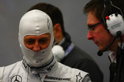 Michael Schumacher, Mercedes GP Petronas with Andrew Shovlin, Mercedes GP Petronas, Senior Race Engineer to Michael Schumacher