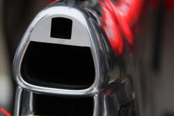 McLaren Mercedes, MP4-25, air intake, detail
