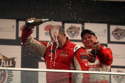 Podium: Paul Morris celebrates