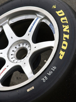 Dunlop tire ready to go