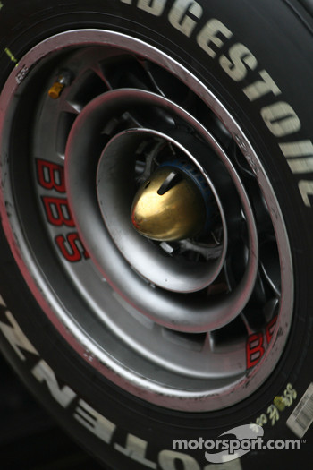 Scuderia Ferrari wheel detail