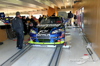 Car of Mark Martin, Hendrick Motorsports Chevrolet at tech inspection