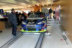 Car of Mark Martin, Hendrick Motorsports Chevrolet at tech inspection