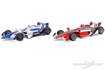 Rendering of the Lola 2012 B12/00 and B12/01 IndyCars