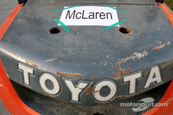 Mclaren sign on a toyota truck